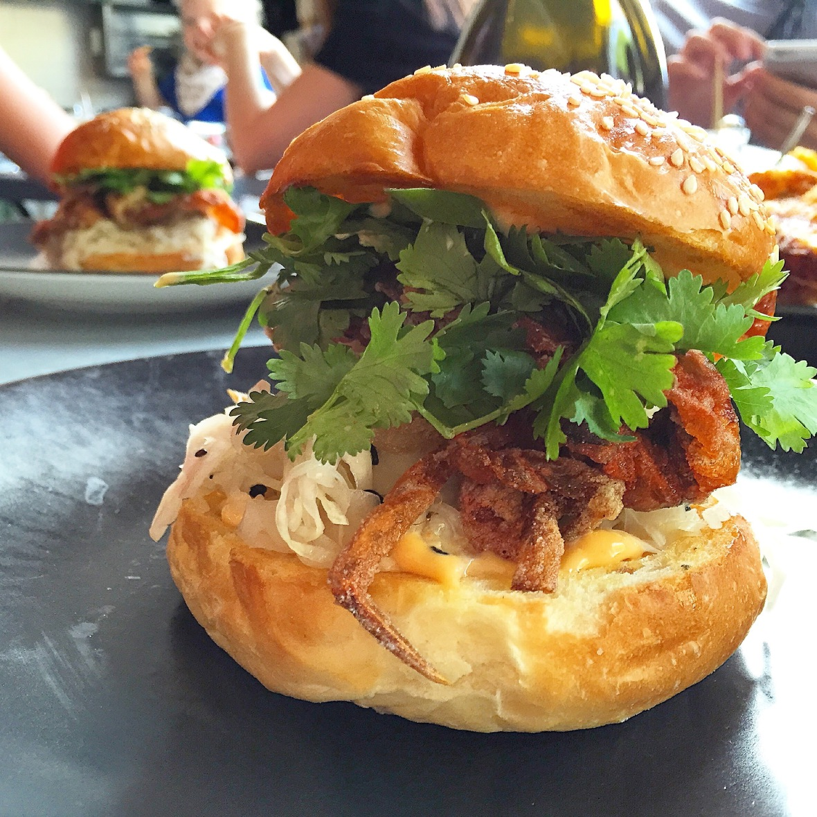 Hammer and Tong Soft Shell Crab Burger
