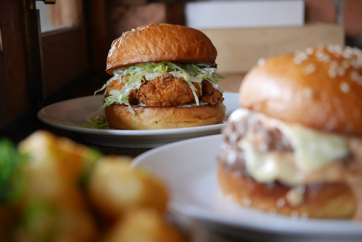 Rockwell and Sons Fried Chicken Burger
